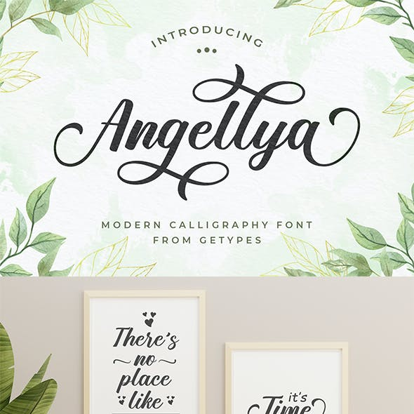 Angellya - Modern Calligraphy Font
