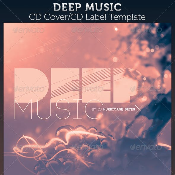 Deep Music: CD Cover Artwork Template