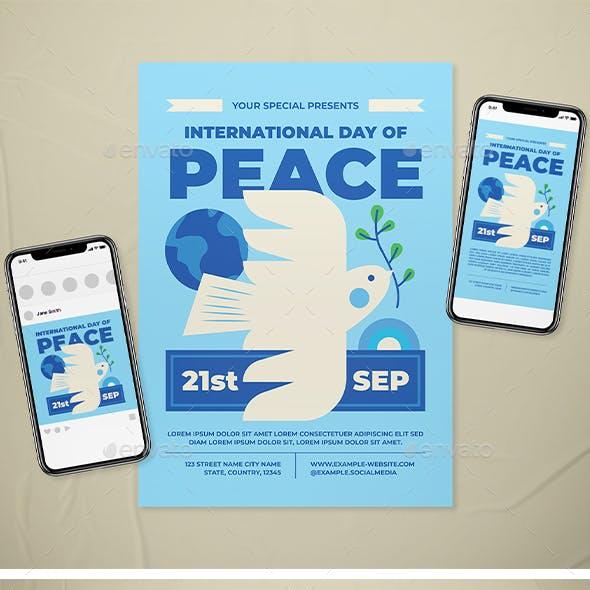 International Day of Peace Flyer Set