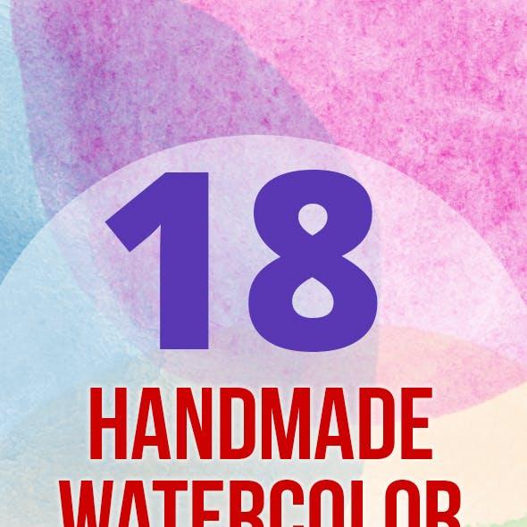 18 Handmade Watercolor Circles
