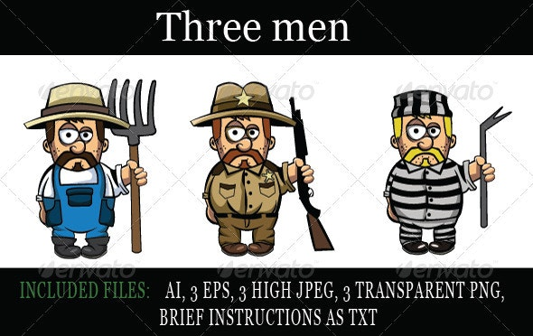Three men - People Characters