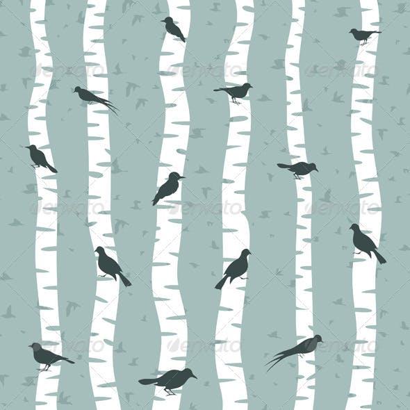 Bird on a birch