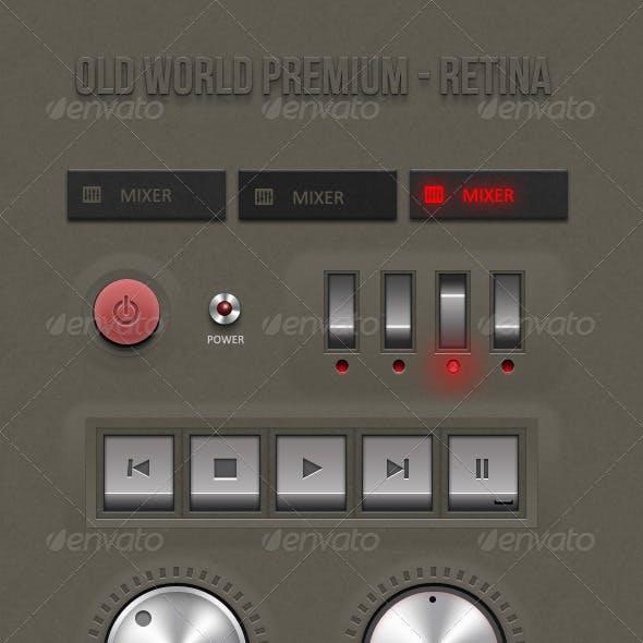 Retina - Old World Premium ui kit
