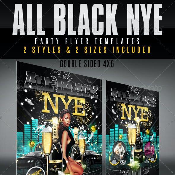 All Black NYE Flyer Templates