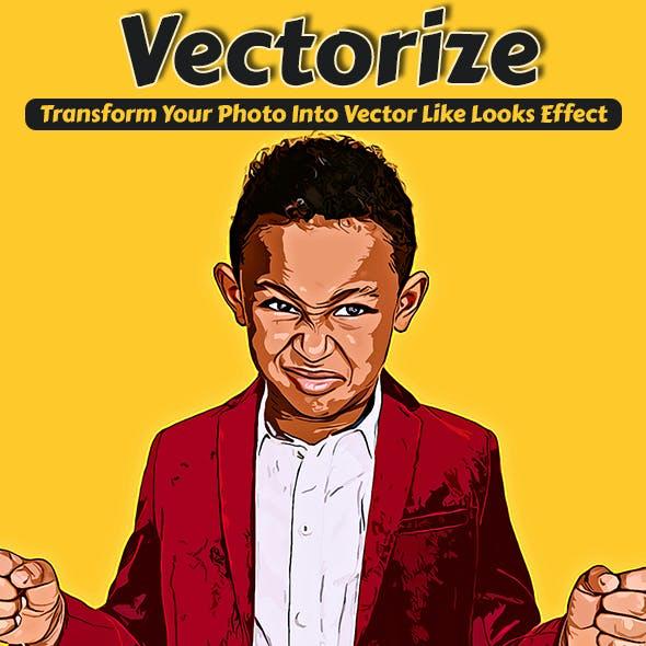 Vectorize Photoshop Action