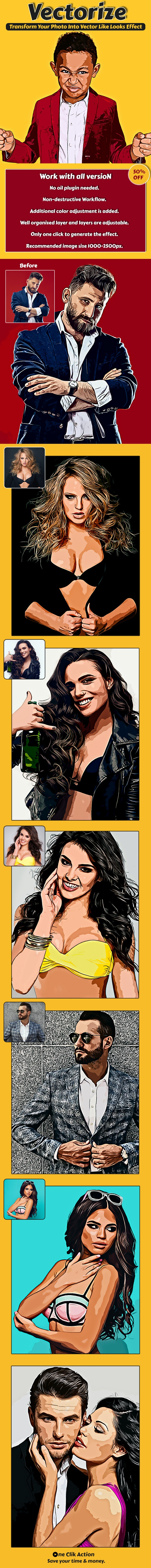 Vectorize Photoshop Action - Photo Effects Actions