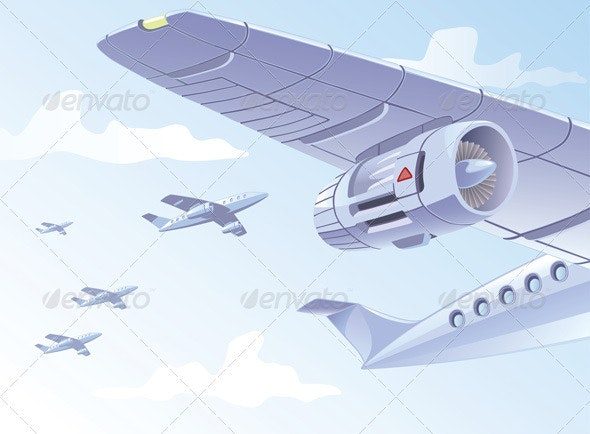Airplane Wing  - Travel Conceptual