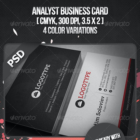 Analyst Business Card