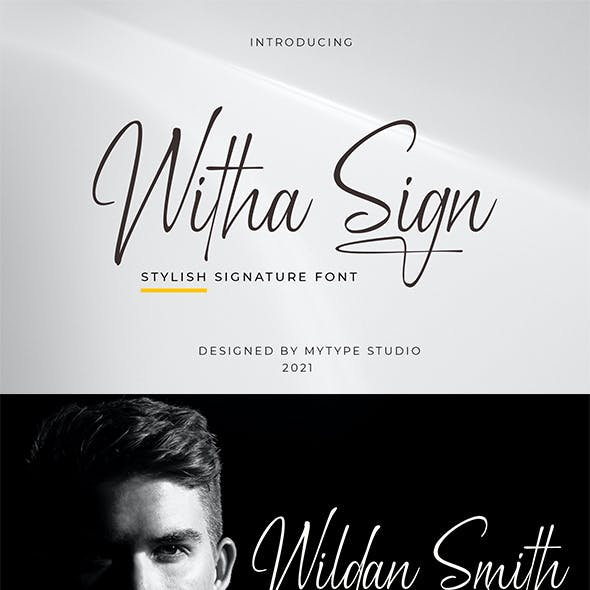 Witha Sign - Signature Font