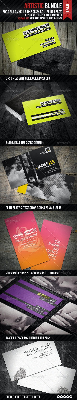 Artistic Business Cards Bundle - Business Cards Print Templates