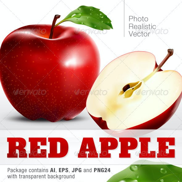 Photo Realistic Vector Apple