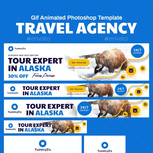 GIF Banners - Travel Agency Banners Ad