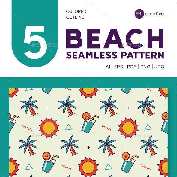 5 Beach Seamless Pattern