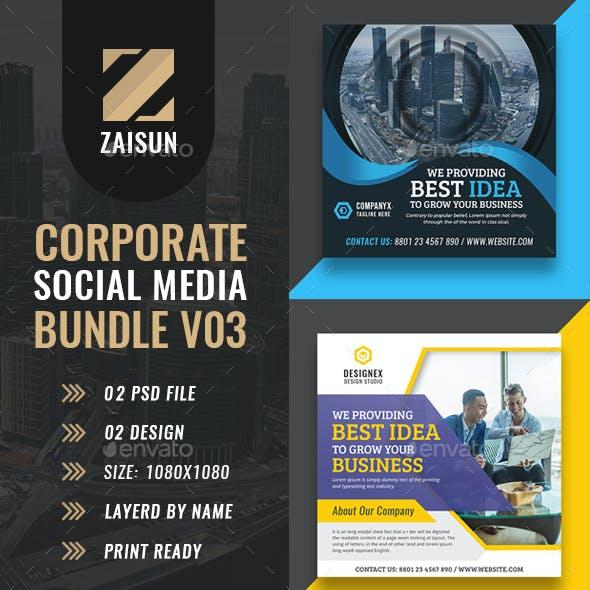 Corporate Social Media Template Bundle-03