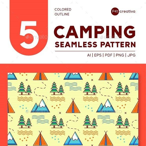 5 Camping Seamless Pattern