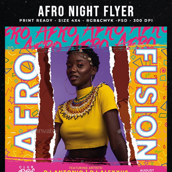 Afro Night Flyer Template
