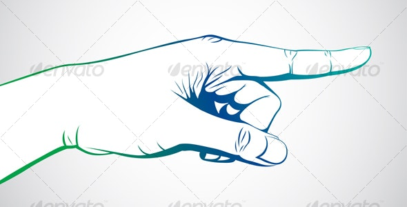 Hand pointing - Decorative Symbols Decorative