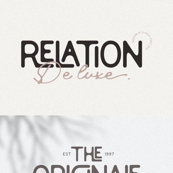 Relation De Luxe - Modern & Classic Font Duo