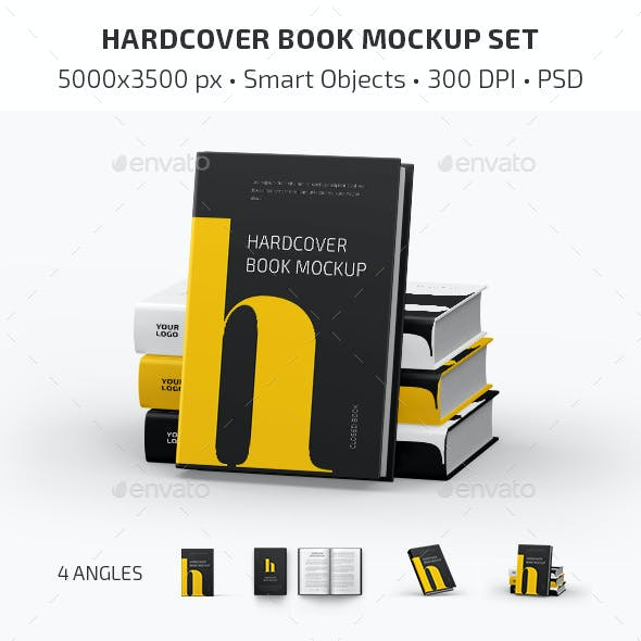 Hardcover Book Mockup Set