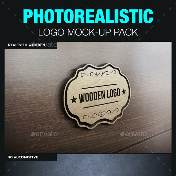 Realistic Logo Mockups Pack - 3D Template