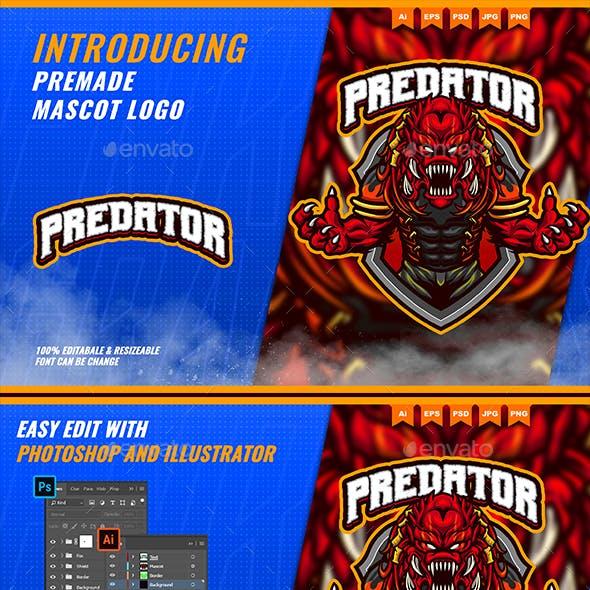 Predator Monster - Mascot Esport Logo Template