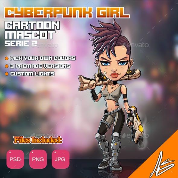 Cyberpunk Girl Mascot