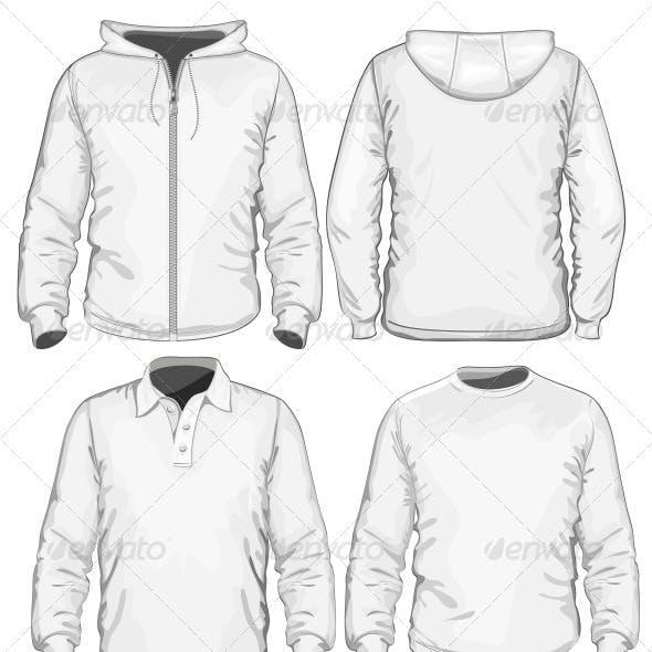 Men's Polo-shirt, T-shirt and Sweatshirt