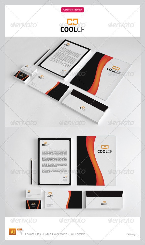 coolcf Corporate Identity Package - Stationery Print Templates