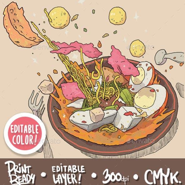 Indonesian Traditional Food - Lontong Sayur