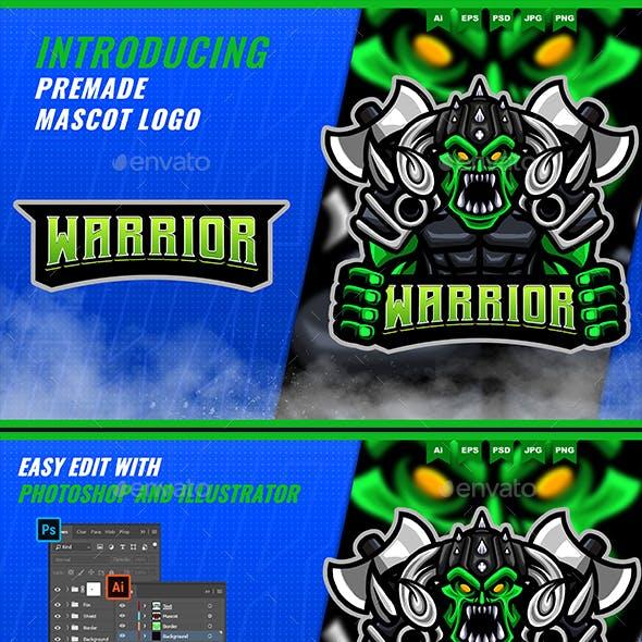 Orc Goblin Warrior - Mascot Esport Logo Template