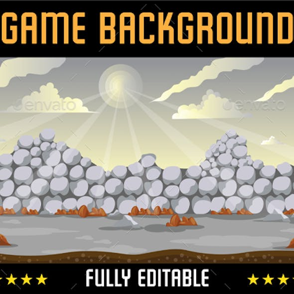 Game Background Stone Wall