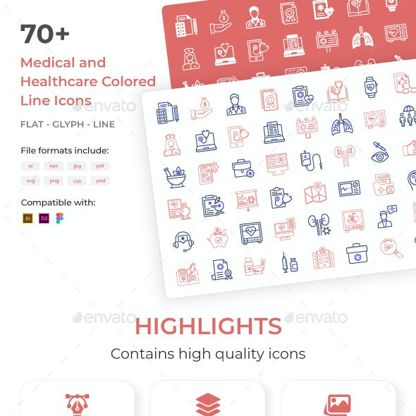 Creative design icons of medical and healthcare
