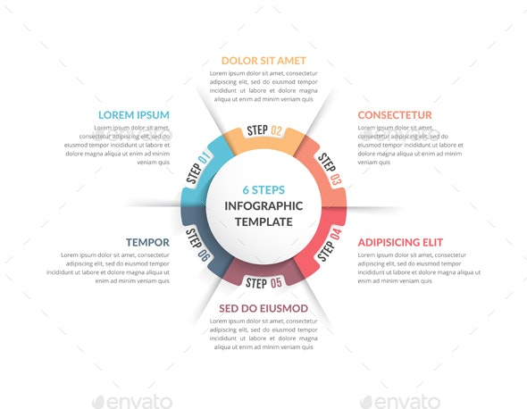 Circle Diagram with Six Elements - Infographics