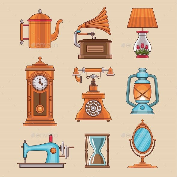 9 Antique Objects