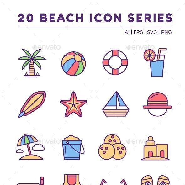 20 Beach Icon Series