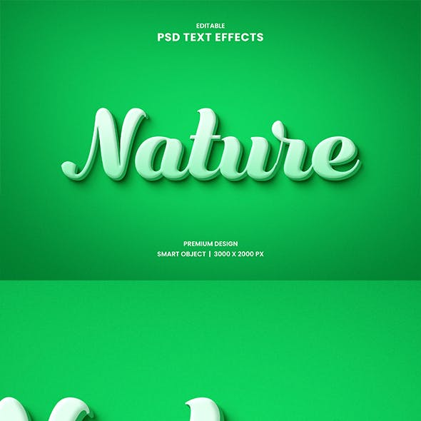 Nature Editable Text Effect