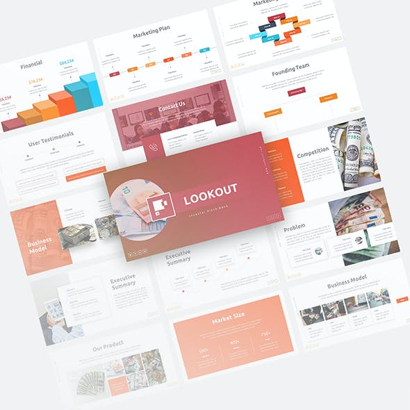 Lookout Investor Pitch Deck Presentation Template