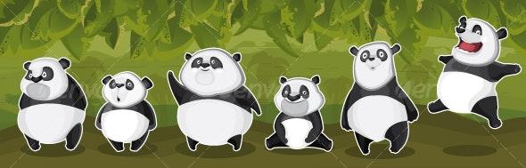 Pandas in the jungle - Characters Vectors