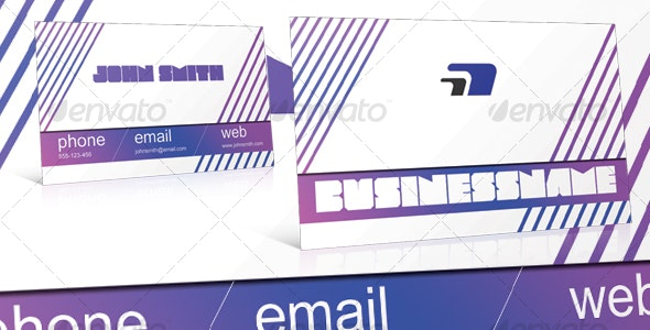 Dynamic lines modern business card - Retro/Vintage Business Cards