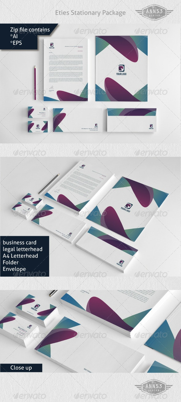 Eties Stationery Package - Stationery Print Templates