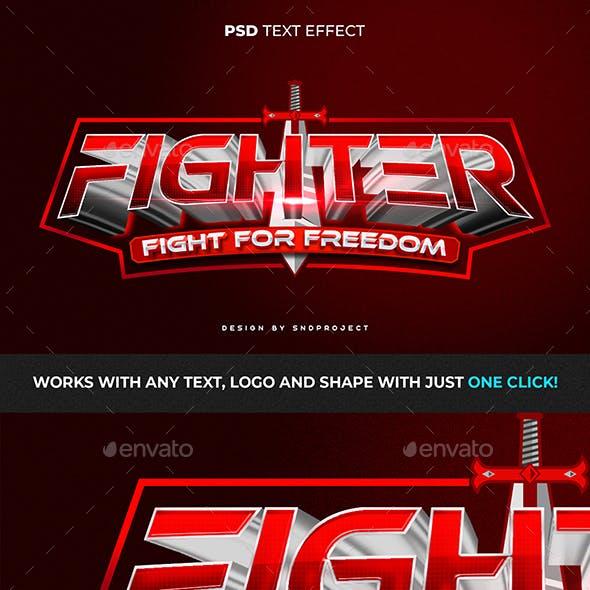 ESPORT FIGHTER TEXT EFFECT