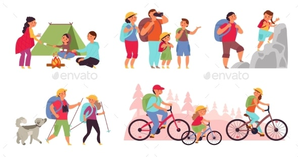 Family Nature Adventures - People Characters