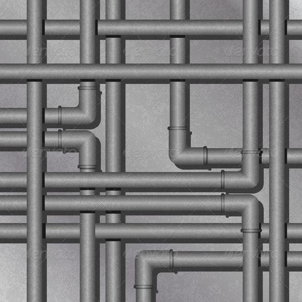 Metal Tube Background - Backgrounds Decorative