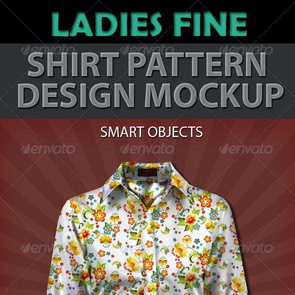 Ladies Fine Shirt Pattern Design Mockup