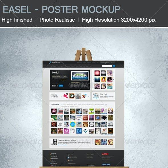 Easel Poster Mock-up