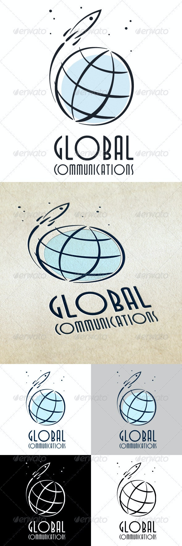 Global Communications - Vector Abstract
