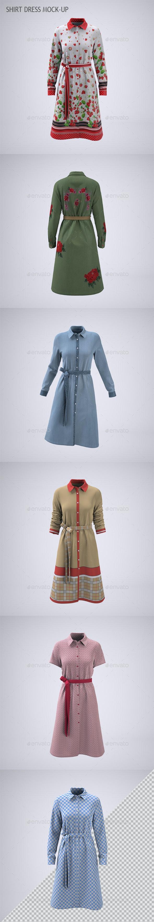 Shirt Dress Mock-up - Apparel Product Mock-Ups