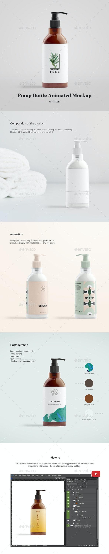 Pump Bottle Animated Mockup - Product Mock-Ups Graphics