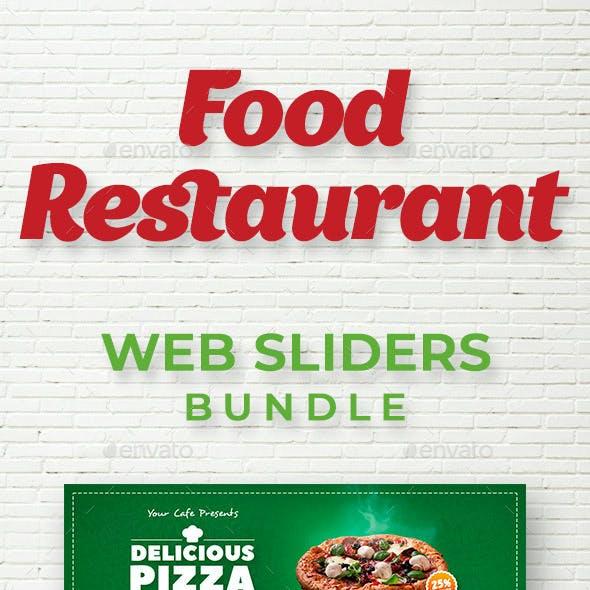 Food & Restaurant Web Sliders Bundle