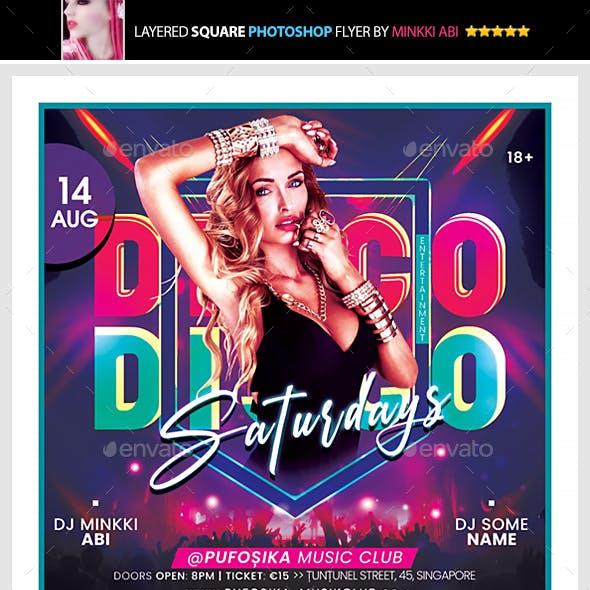 Disco Saturdays Flyer